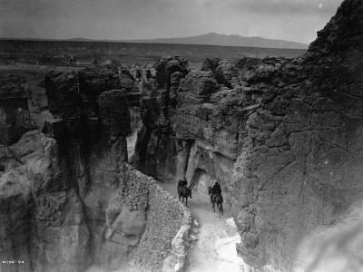 Old Trail at Acoma-Edward S^ Curtis-Photographic Print