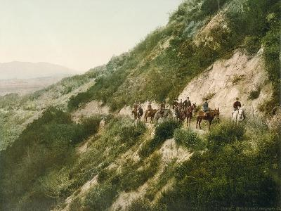Old Trail to Mount Wilson, Pasadena, California, 1900-American School-Giclee Print