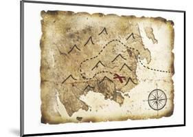 Old Treasure Map-TaiChesco-Mounted Art Print