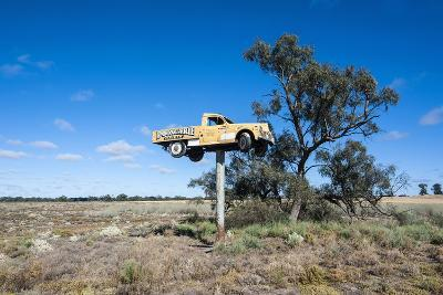 Old Truck on a Huge Pole-Michael Runkel-Photographic Print
