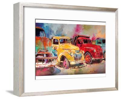 Old Trucks-Richard Wallich-Framed Art Print