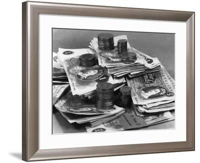 Old Uk Money 1969--Framed Photographic Print
