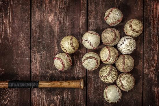 Old Vintage Baseball Background Photographic Print Soupstock Art Com