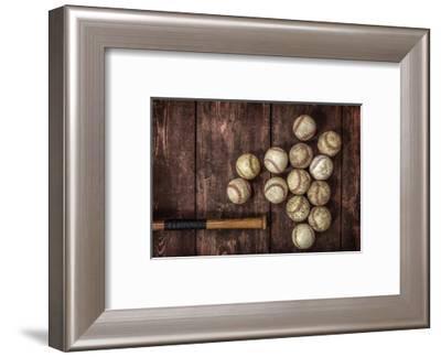 Old Vintage Baseball Background.-soupstock-Framed Photographic Print