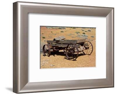 Old wagon, Rock Art Ranch, near Holbrook, Arizona, USA-Michel Hersen-Framed Photographic Print