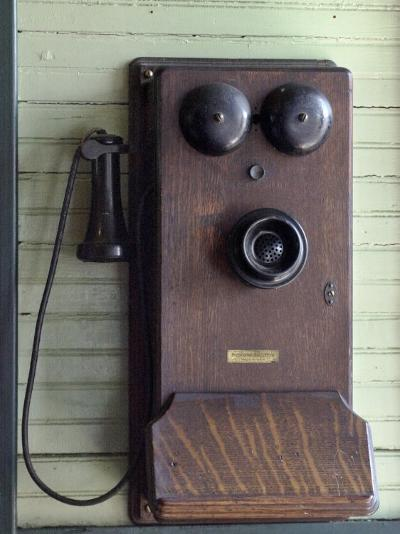 Old Wall-Mounted Western Electric Telephone in the Soo Line Depot, Rhinelander--Photographic Print