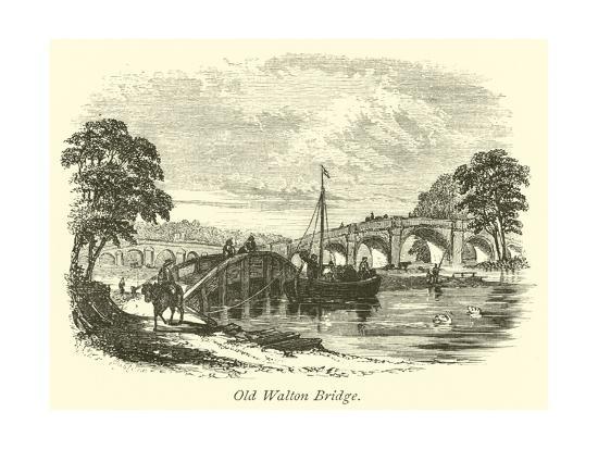 Old Walton Bridge--Giclee Print