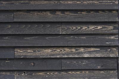 Old Weather-Beaten Wooden Slats on a Hut by the Ore River Estuary, Orford, Suffolk, England-Natalie Tepper-Photo