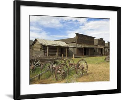 Old Western Wagons from the Pioneering Days of the Wild West at Cody, Montana, USA-Neale Clarke-Framed Photographic Print