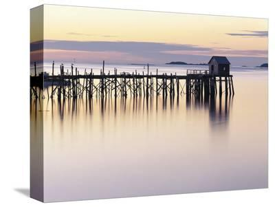 Old Wharf at Dawn-Rezendes-Stretched Canvas Print