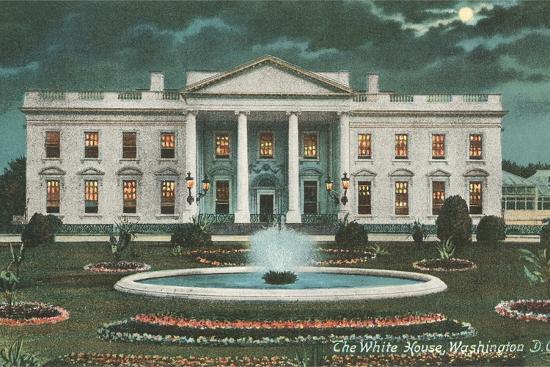 Old White House Illustration--Art Print