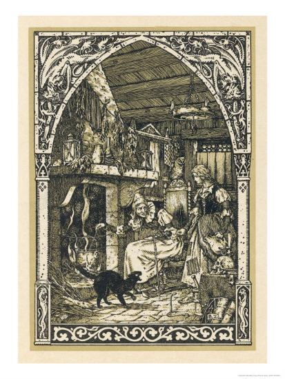 Old Witch Young Witch-Bernard Zuber-Giclee Print