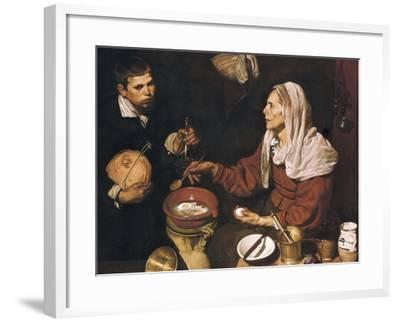 Old Woman Cooking Eggs-Diego Velazquez-Framed Art Print