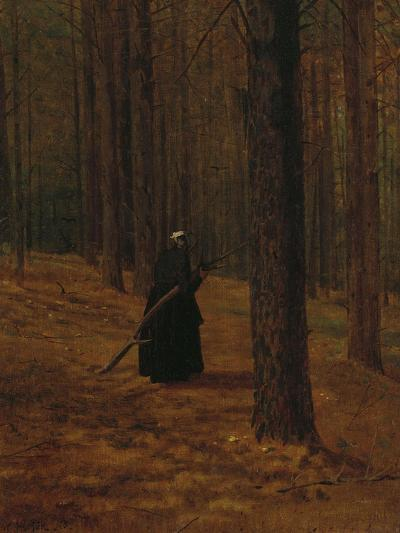 Old Woman Gathering Brush, 1865-Winslow Homer-Giclee Print