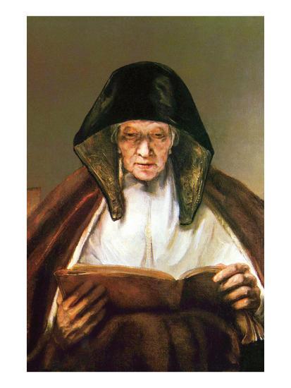 Old Woman, Reading-Rembrandt van Rijn-Art Print