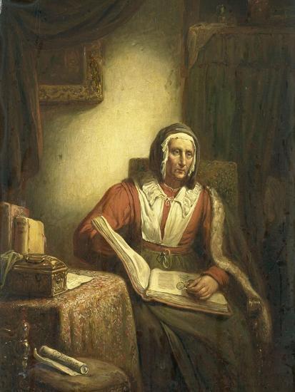 Old Woman Reading-George Gillis Haanen-Art Print