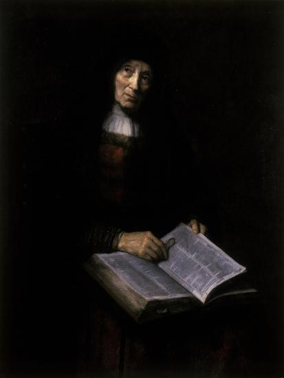 Old Women with Book-Nicolaes Maes-Giclee Print