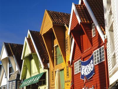 Old Wooden Buildings Along Skagenkaien, Stavanger, Norway, Scandinavia, Europe-Gavin Hellier-Photographic Print