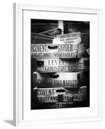 Old Wooden Crates used on Markets in London - Portobello Road Market - Notting Hill - UK - England-Philippe Hugonnard-Framed Photographic Print