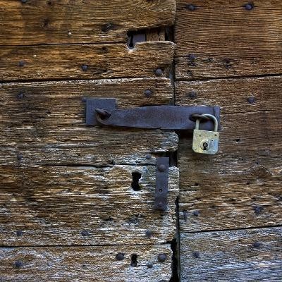 Old Wooden Door with Lock-Bernard Jaubert-Photographic Print