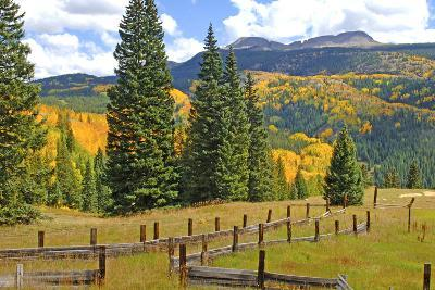 Old Wooden Fence and Autumn Colors in the San Juan Mountains of Colorado-John Alves-Photographic Print