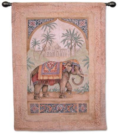 Old World Elephant I-Debra Swartzendruber-Wall Tapestry