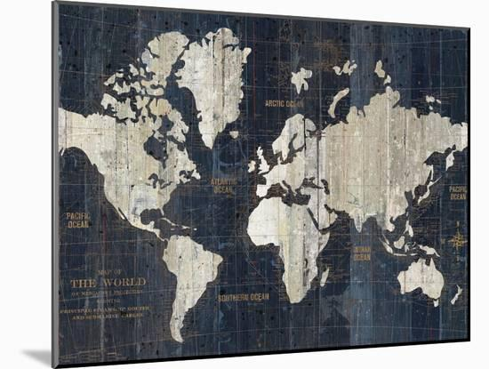 Old World Map Blue Crop-Wild Apple Portfolio-Mounted Art Print