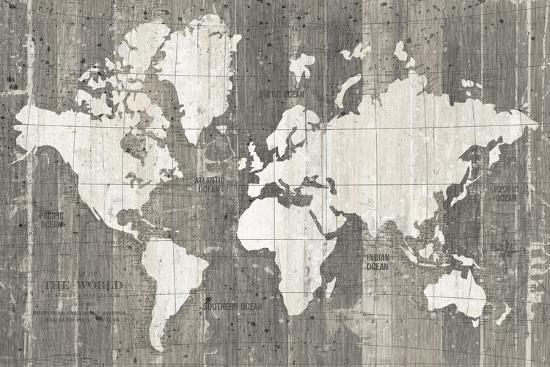 Old World Map Neutral Art Print by Wild Apple Portfolio | Art.com