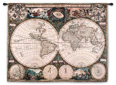 Old World Map--Wall Tapestry