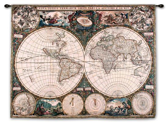 Old world map wall tapestry by the new art old world map gumiabroncs Images