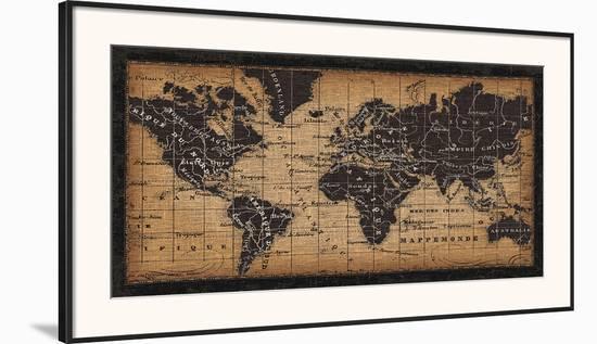 Old World Map Framed Art Print By Pela Design Art Com