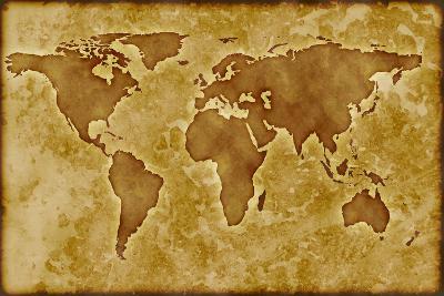 Old World Map-Arcoss-Art Print