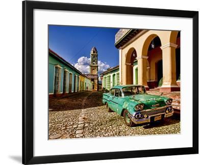 Old Worn 1958 Classic Chevy, Trinidad, Cuba-Bill Bachmann-Framed Photographic Print