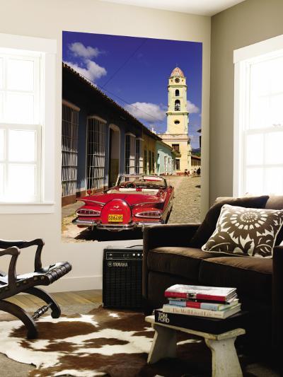 Old Worn 1958 Classic Chevy, Trinidad, Cuba-Bill Bachmann-Wall Mural