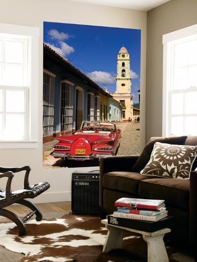 Old Worn 1958 Classic Chevy, Trinidad, Cuba-Bill Bachmann-Giant Art Print