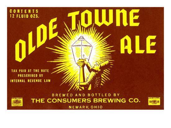 Olde Towne Ale--Art Print