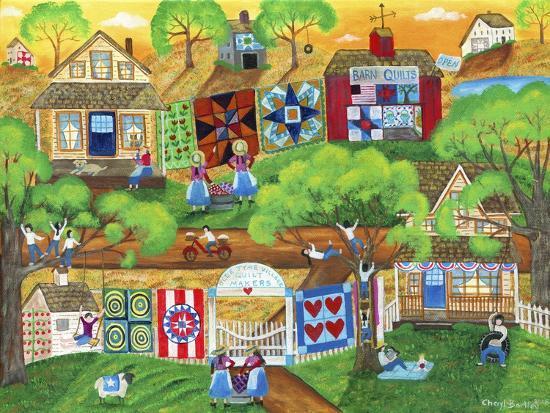 Olde Tyme Village Quilt Maker-Cheryl Bartley-Giclee Print