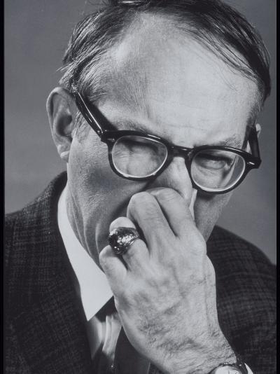 Older Man Pinching His Nose Closed-Lambert-Photographic Print