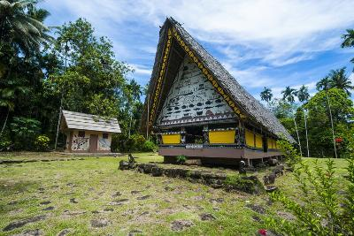 Oldest Bai of Palau, House for the Village Chiefs, Island of Babeldaob, Palau, Central Pacific-Michael Runkel-Photographic Print