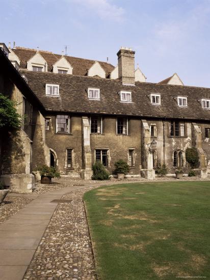 Oldest Quadrangle, Old Court, Corpus Christi, Cambridge, Cambridgeshire,  England Photographic Print by Michael Jenner | Art com