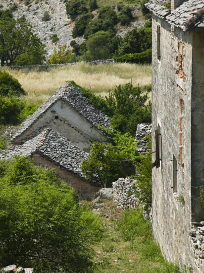 Oldest Settlement on Brac, Skrip, Brac Island, Central Dalmatia, Croatia-Walter Bibikow-Photographic Print