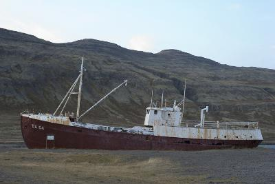 Oldest Steal Ship in Iceland, Gardar Ba 64, Osafjšrdur, Patreksfjšrdur, Westfjords, West Iceland-Julia Wellner-Photographic Print