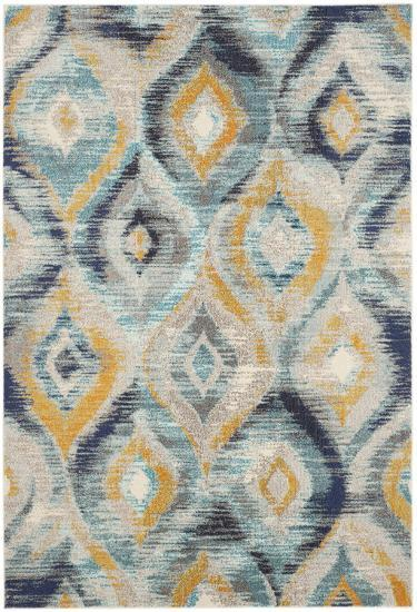 """Oleander Area Rug - Navy/Gold 5'1"""" x 7'7""""--Home Accessories"""