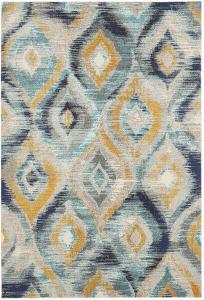 "Oleander Area Rug - Navy/Gold 5'1"" x 7'7"""