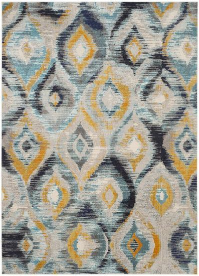 Oleander Area Rug - Navy/Gold 9' x 12'--Home Accessories