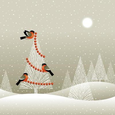 Christmas Tree in Winter Forest by Oleg Iatsun