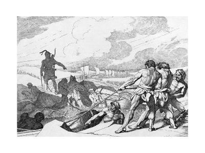 Oleg of Novgorod's Campaign Against Constantinople, before 1839-Fyodor Antonovich Bruni-Giclee Print