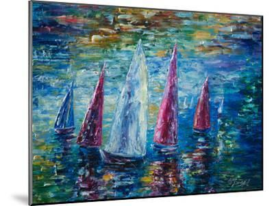 Sails To Night by Olena Art