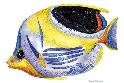 Fish 5 Blue-Yellow