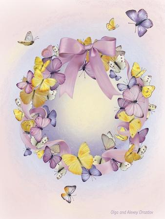 Wreath With Butterflies